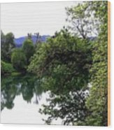 Umpqua River Wood Print
