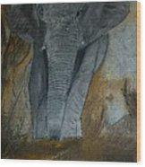 Un Elephant Ca Trompe Enormement Wood Print