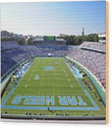 Unc Kenan Stadium Endzone View Wood Print by Replay Photos