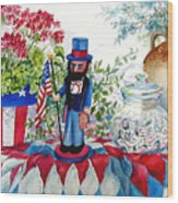 Uncle Sam And Star Cookies Wood Print