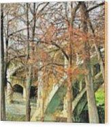 Under A Bridge Wood Print