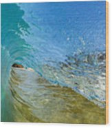 Under Breaking Wave Wood Print