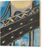Under Brooklyn Bridge Ny II Wood Print