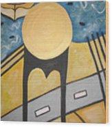 Under Brooklyn Bridge Ny Wood Print