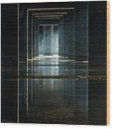 Under Clark Bridge Wood Print