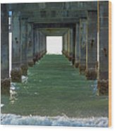 Under Clearwater Pier 60 Wood Print
