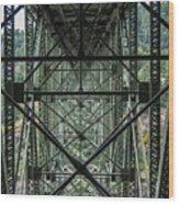 Under Deception Pass Bridge Wood Print