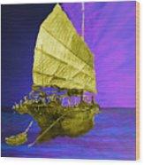Under Golden Sails Wood Print