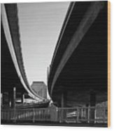 Under Interstate 5 Sacramento Wood Print