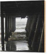 Under Santa Monica Pier Wood Print