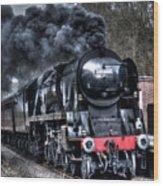 Under Steam Wood Print