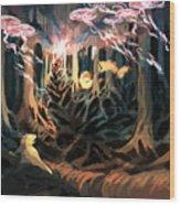Under The Bayou Wood Print
