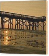 Under The Boardwalk 3 Wood Print by Tom Rickborn