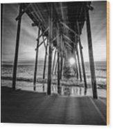 Under The Boardwalk Bw 1 Wood Print