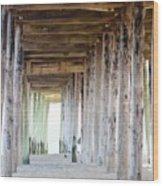Under The Boardwalk Except It's The Pier Wood Print