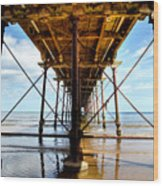 Under The Boardwalk Wood Print