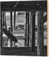 Under The Boardwalk Wood Print by Tommy Anderson