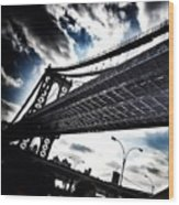 Under The Bridge Wood Print by Christopher Leon
