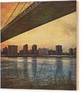 Under The Bridge Wood Print by Svetlana Sewell