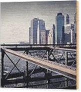 Under The Brooklyn Bridge Wood Print