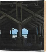 Under The Daytona Beach Pier 002 Wood Print