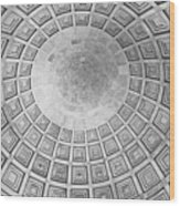 Under The Dome At The Jefferson Memorial Wood Print