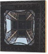 Under The Eiffel Wood Print