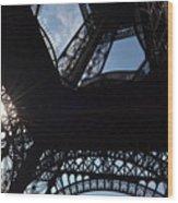 Under The Eiffel II Wood Print