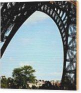 Under The Eiffel Tower Wood Print