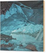 Under The Glacier Wood Print
