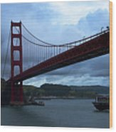 Under The Golden Gate In Early Morning Light  Wood Print