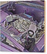 Under The Hood 66 Impala_1b Wood Print