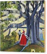 Under The Mossy Oak Wood Print