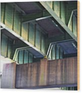 Under The Overpass Wood Print