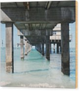 Under The Pier Wood Print by Lynn Jackson