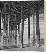 Under The Pismo Pier Wood Print