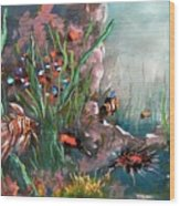 Under The Sea Colors Wood Print
