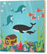 Under The Sea-jp2988 Wood Print
