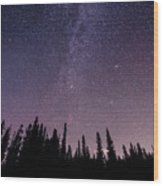 Under The Stars - Barrier Lake Wood Print by Adnan Bhatti