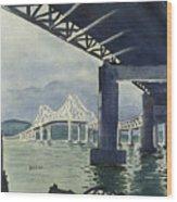Under The Tappan Zee Bridge Wood Print