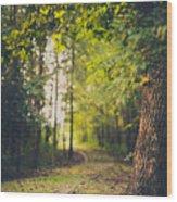 Under The Tree Wood Print