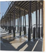 Under The Ventura Pier In Southern California Wood Print