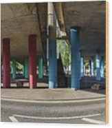 Under The Viaduct A Panoramic Urban View Wood Print