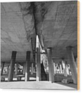 Under The Viaduct A Urban View Wood Print