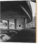 Under The Viaduct C Urban View Wood Print