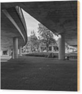Under The Viaduct D Urban View Wood Print