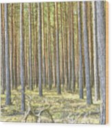 Underbrush. Wood Print
