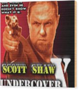 Undercover X Wood Print by The Scott Shaw Poster Gallery