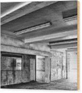 Underground Bw Wood Print
