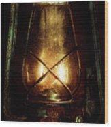 Underground Mining Lamp  Wood Print